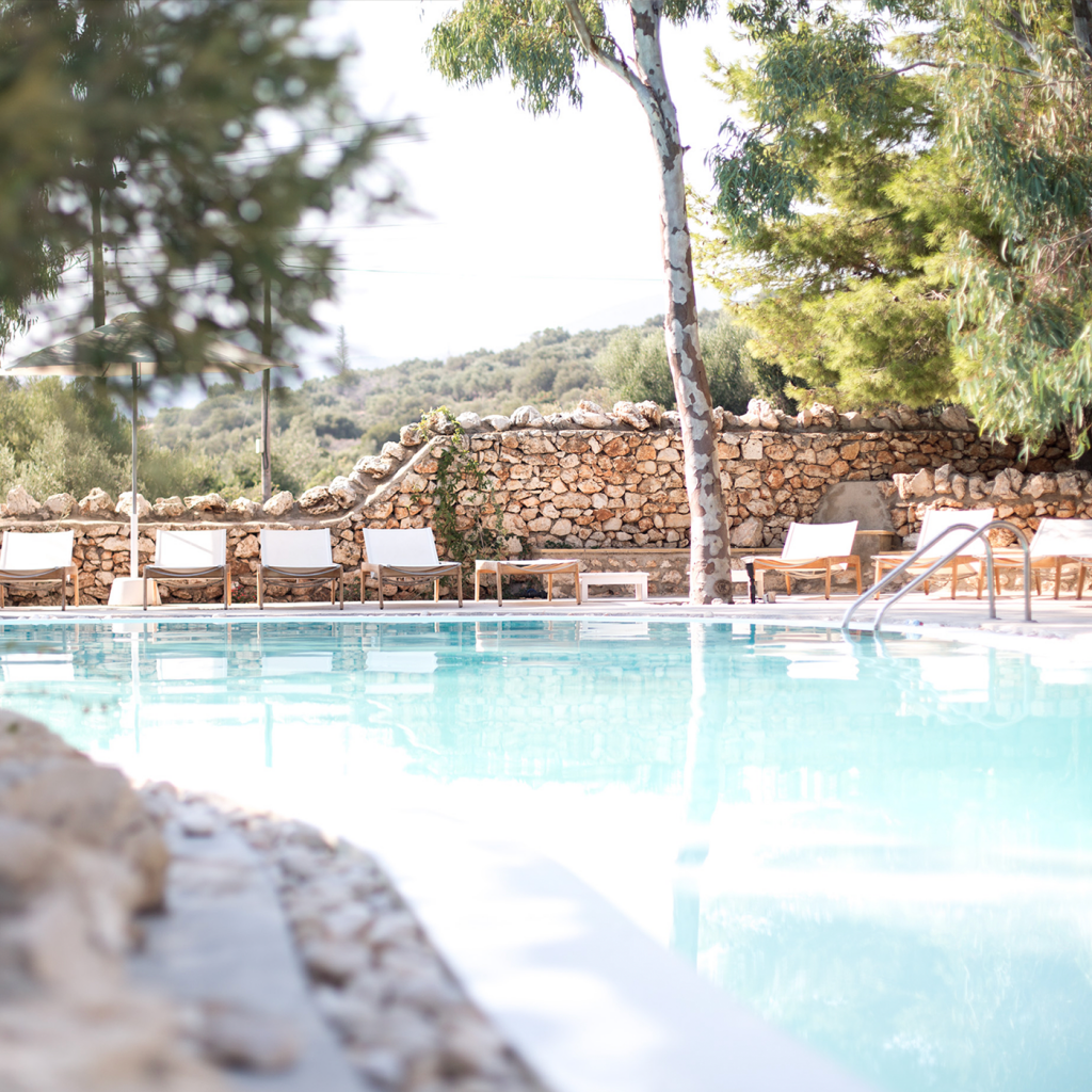 The Peligoni Club Pool in Greece. Love Brand & Co Pop Up
